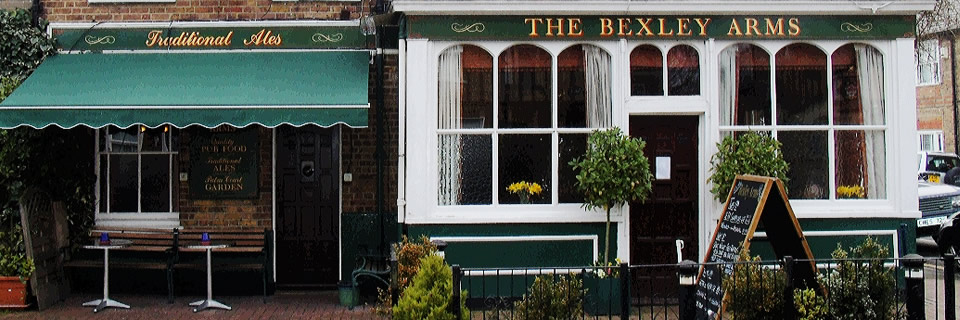 outside The Bexley Arms pub in Windsor